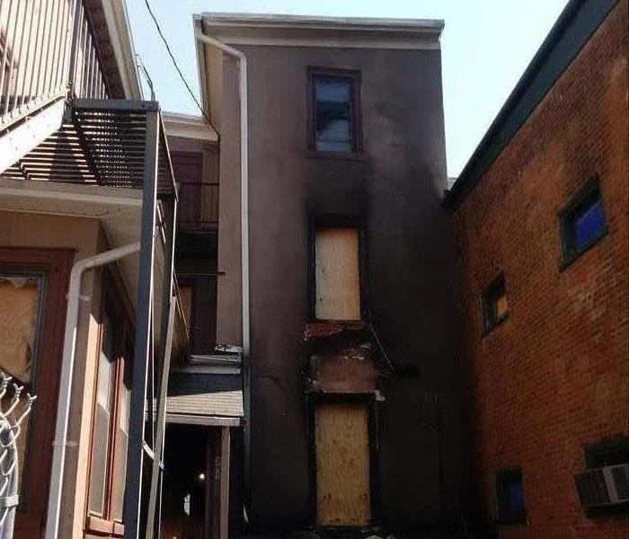 Exterior of Building Fire Damage